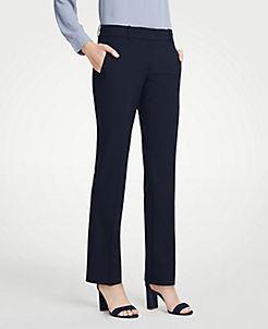 앤테일러 Ann Taylor The Straight Leg Pant In Seasonless Stretch - Curvy Fit