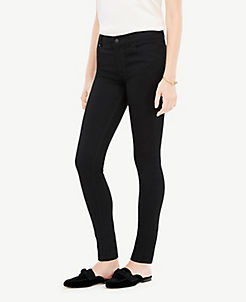 앤테일러 Ann Taylor Performance Stretch Skinny Jeans in Jet Black,Jet Black Wash
