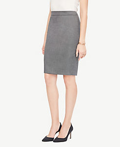 앤테일러 펜슬 스커트 Ann Taylor Pencil Skirt in Sharkskin,Iced Slate
