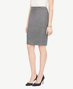 앤테일러 펜슬 스커트 Ann Taylor Petite Sharkskin Pencil Skirt,Iced Slate