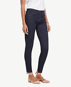 앤테일러 Ann Taylor Performance Stretch Skinny Jeans in Evening Sea Wash,Evening Sea Wash