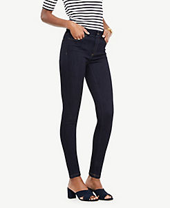 앤테일러 Ann Taylor Curvy Performance Stretch Skinny Jeans in Evening Sea Wash,Evening Sea Wash