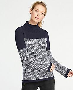 앤테일러 Ann Taylor Fairisle Turtleneck Sweater