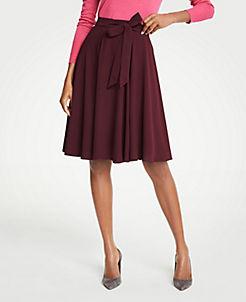 앤테일러 Ann Taylor Chiffon Full Skirt,Rosy Plum