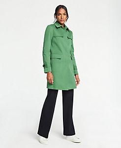 앤테일러 Ann Taylor Mac Trench Coat,Fresh Willow
