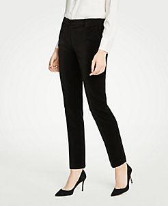 앤테일러 Ann Taylor The Ankle Pant In Velvet,Black