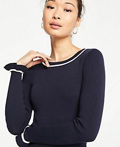 앤테일러 Ann Taylor Ruffle Cuff Sweater