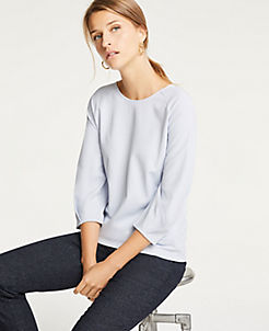 앤테일러 Ann Taylor Curved Sleeve Top
