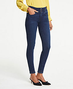 앤테일러 Ann Taylor High Rise Performance Stretch Skinny Jeans,Classic Mid Indigo Wash
