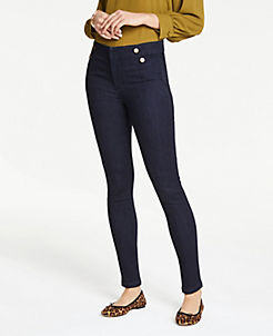 앤테일러 Ann Taylor Sailor Performance Stretch Skinny Jeans,Evening Sea Wash