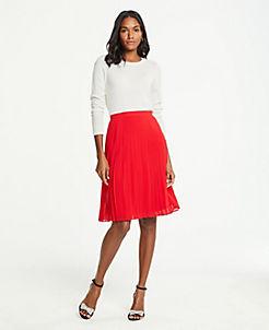 앤테일러 Ann Taylor Pleated Skirt,Jubilee
