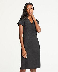 앤테일러 원피스 Ann Taylor Shimmer V-Neck Sheath Dress,Black