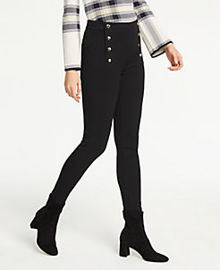 앤테일러 Ann Taylor The Sailor Chelsea Skinny Pants,Black