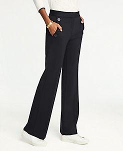 앤테일러 Ann Taylor Sailor Flare Trousers,Black