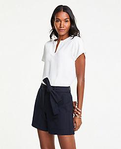 앤테일러 Ann Taylor Marina Tie Waist Shorts