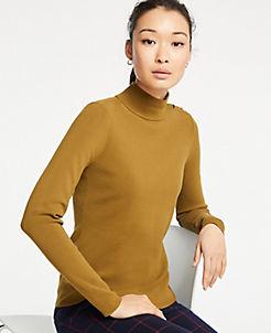 앤테일러 Ann Taylor Shoulder Button Turtleneck Sweater