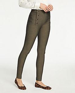 앤테일러 Ann Taylor The Sailor Chelsea Skinny Pants,Black Neutral Multi