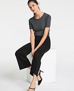 앤테일러 Ann Taylor The Wide-Leg Knit Crop Pants