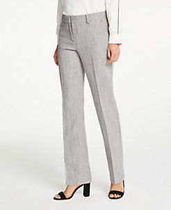 앤테일러 Ann Taylor The Straight Leg Pant In Herringbone,Grey Multi