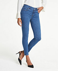 앤테일러 Ann Taylor Performance Stretch Skinny Jeans In Classic Blue Wash,Classic Blue Wash