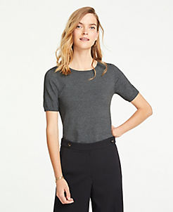 앤테일러 Ann Taylor Short Sleeve Sweater Tee
