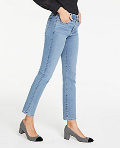 앤테일러 Ann Taylor Skinny Crop Jeans,Mid Authentic Indigo Wash