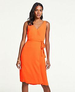 앤테일러 랩 원피스 Ann Taylor Wrap Sheath Dress,Marigold