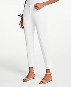 앤테일러 Ann Taylor The Curvy Crop Pant,White