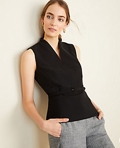 Anntaylor The Belted Top in Doubleweave