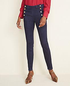 앤테일러 Ann Taylor Admiral Performance Stretch Skinny Jeans in Classic Rinse Wash,Classic Rinse Wash
