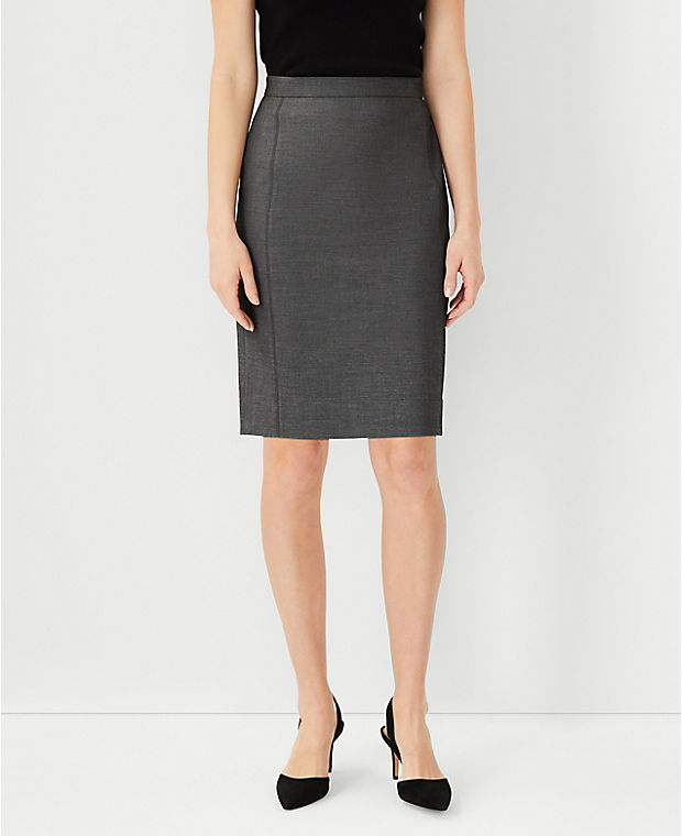 앤테일러 펜슬 스커트 Ann Taylor The Pencil Skirt in Bi-Stretch,Dark Grey