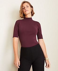 앤테일러 Ann Taylor Mock Neck Top