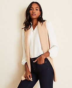 앤테일러 Ann Taylor Ribbed Sweater Vest