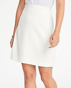 앤테일러 자카드 에이라인 스커트 Ann Taylor Textured Jacquard A-Line Skirt,Winter White