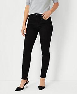 앤테일러 Ann Taylor Sculpting Pockets Skinny Jeans in Jet Black Wash,Jet Black Wash