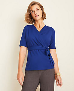 앤테일러 Ann Taylor Belted Wrap Top