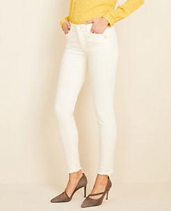 앤테일러 Ann Taylor Button Pocket Frayed Skinny Jeans
