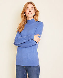 앤테일러 Ann Taylor Shoulder Button Turtleneck Sweater