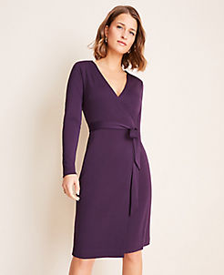앤테일러 Ann Taylor Matte Jersey Wrap Dress