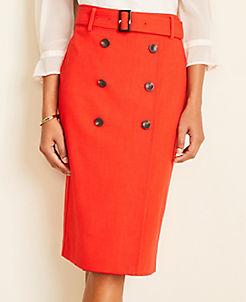 앤테일러 Ann Taylor Trench Pencil Skirt
