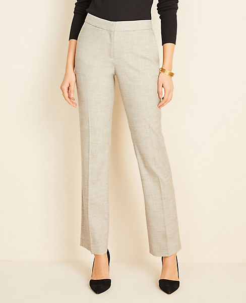 The Petite Marled Straight Pant - Curvy Fit