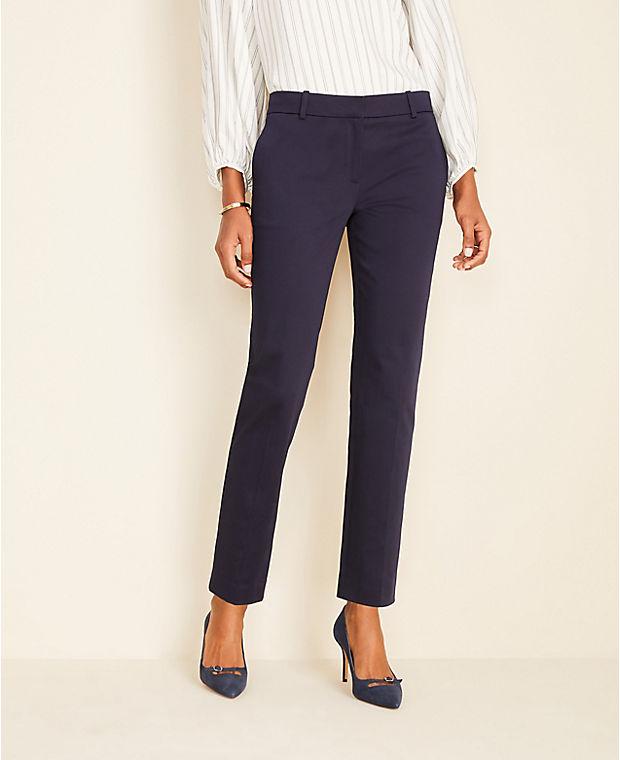 앤테일러 Ann Taylor The Ankle Pant In Cotton Sateen - Curvy Fit