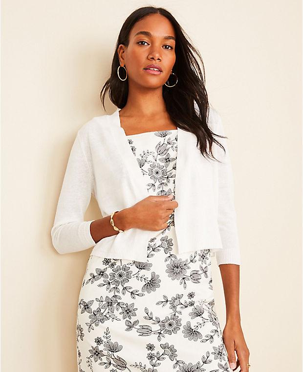 앤테일러 Ann Taylor Linen Blend Dress Cardigan