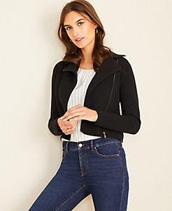 앤테일러 Ann Taylor Moto Sweater Jacket
