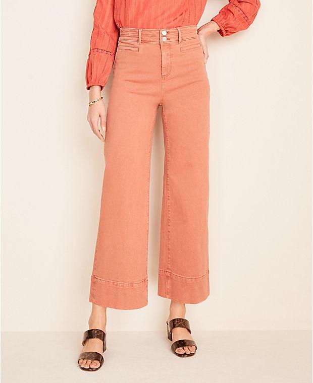 앤테일러 Ann Taylor Wide Leg Crop Jeans