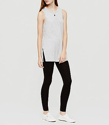 로프트 LOFT Lou & Grey Essential Leggings,Black