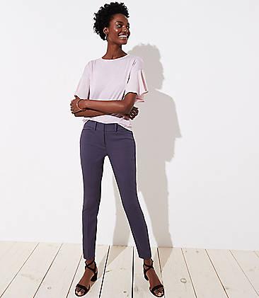 로프트 앵클 팬츠 LOFT Skinny Ankle Pants,Coastal Grey