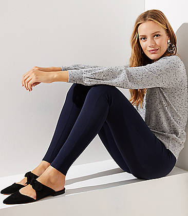 로프트 LOFT Leggings in Ponte,Forever Navy
