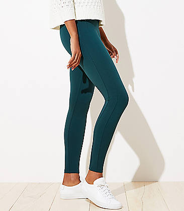 로프트 LOFT Leggings in Ponte,Ponderosa Pine