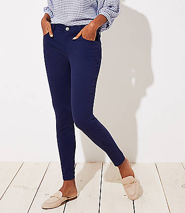 로프트 LOFT Leggings in Brushed Sateen in Julie Fit,Nautical Navy